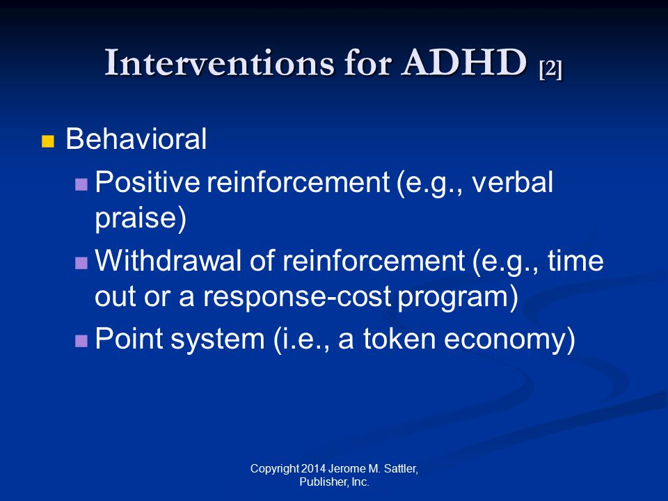 Interventions for ADHD [2]